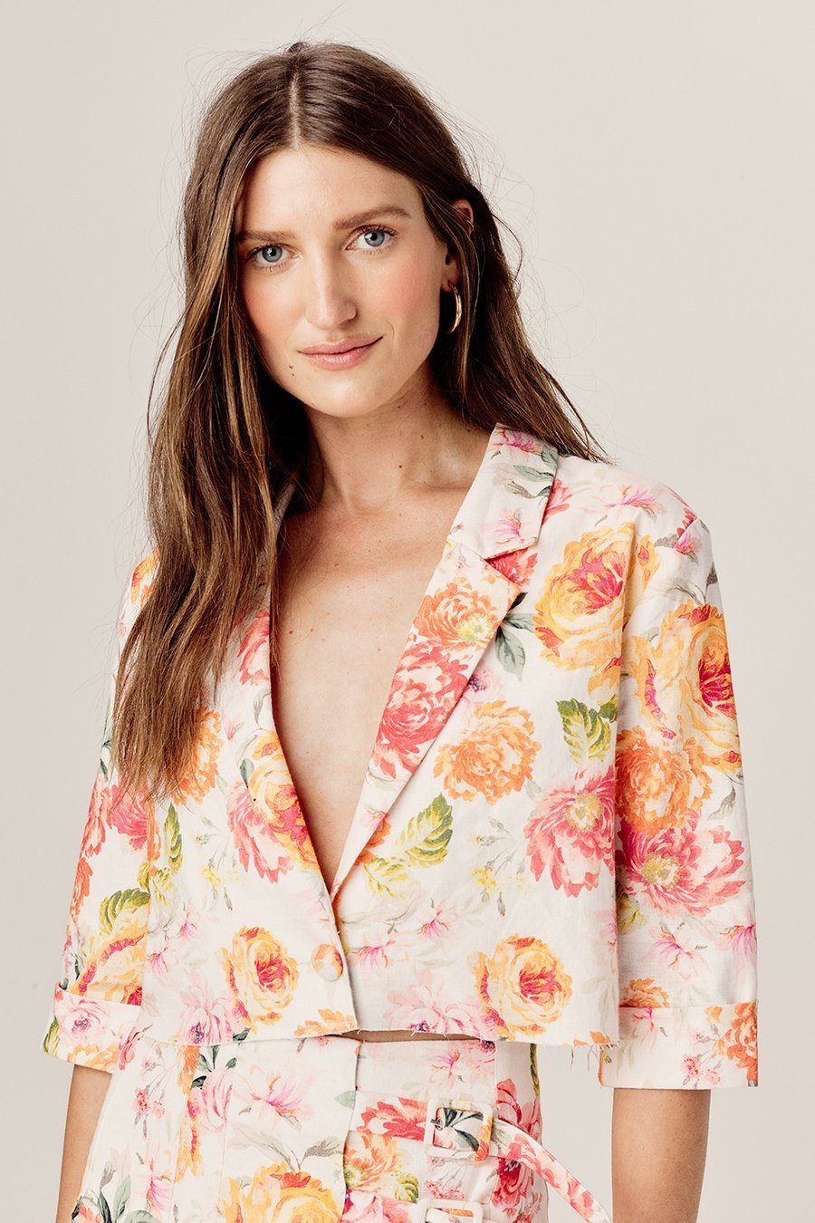 FOR LOVE & LEMONS | Julep Cropped Blazer - Coral