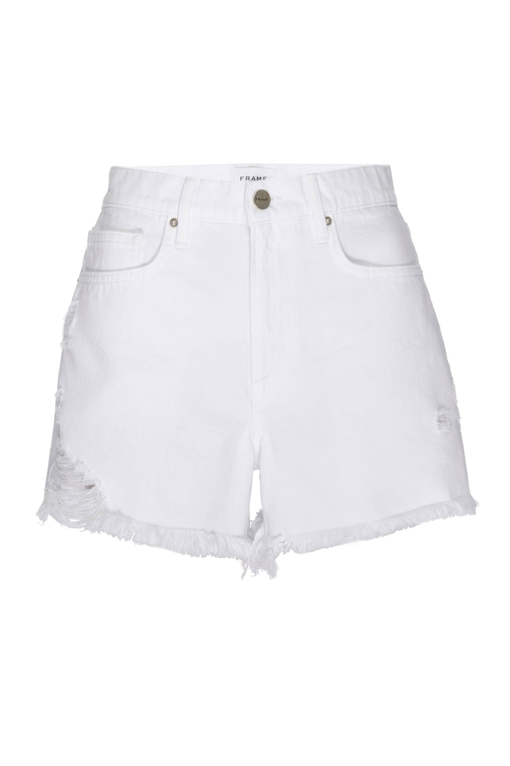FRAME | Le Brigette Short Raw Edge- Blanc Soho