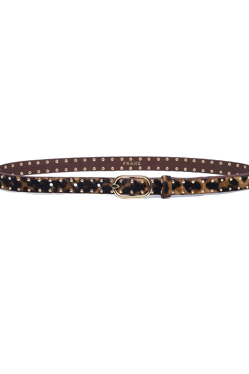 FRAME | Safari Leopard Studded Belt