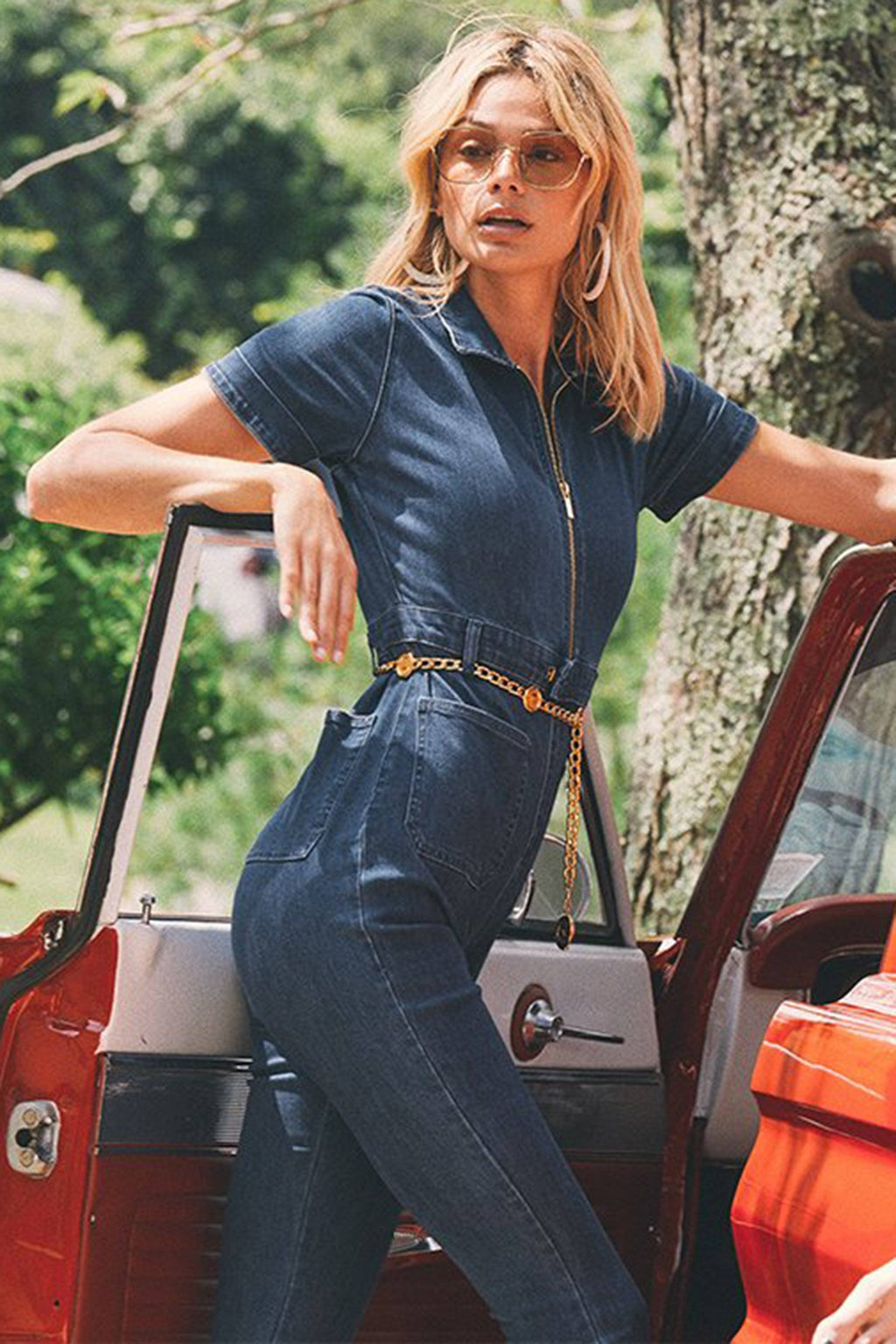 WE WORE WHAT | The Jumpsuit - Dark Wash Denim
