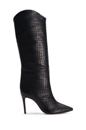 SCHUTZ | Maryana Crocodile Print Boot - Black