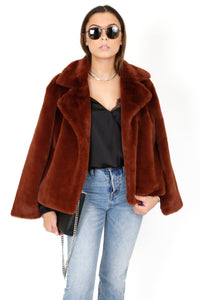 FRAME | Wide Collar Coat - Tawny