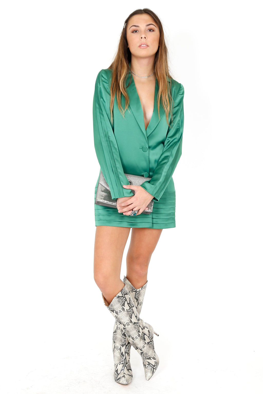 ALEXIS | Oskari Jacket Dress - Emerald Green