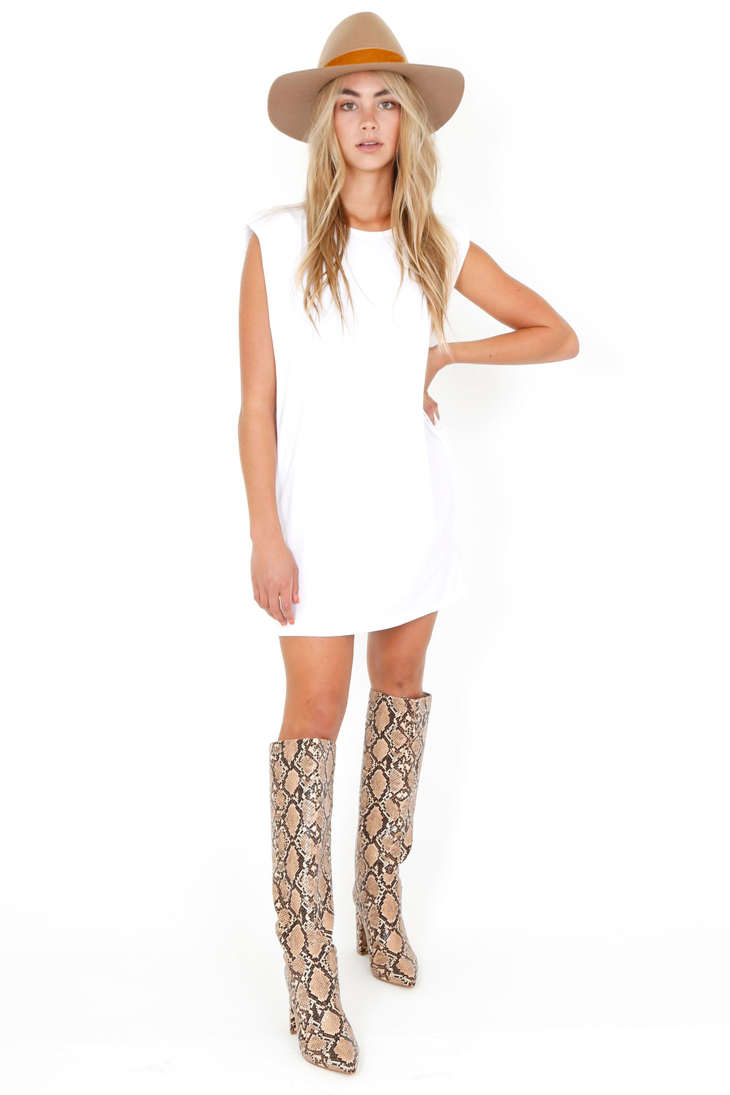 Its a Shoulder Fad Dress - White