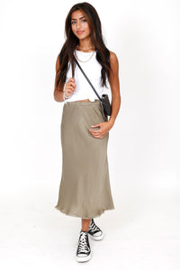 NATION | Mabel Midi Skirt - Dirty Martini