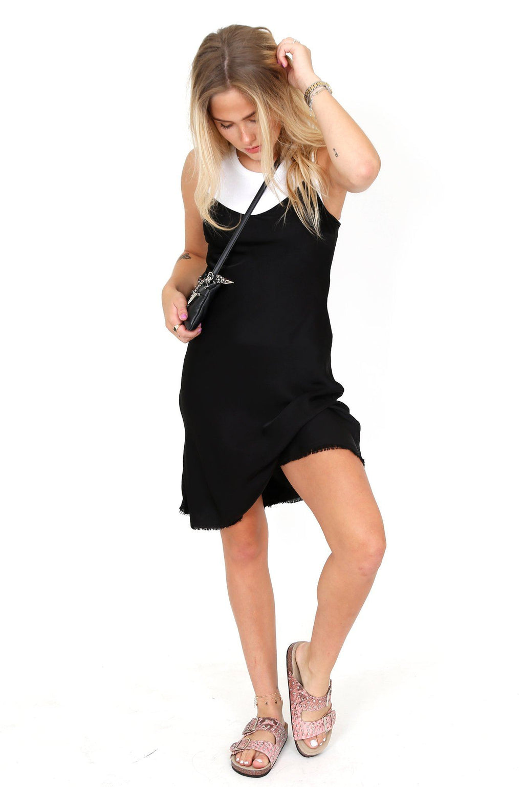 NATION LTD | Sofia Slip Dress - Black