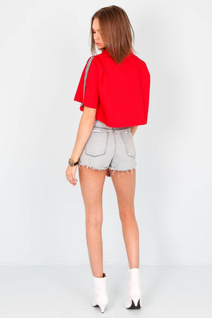 GREY LAB | Finish Line Crop Shirt - Red