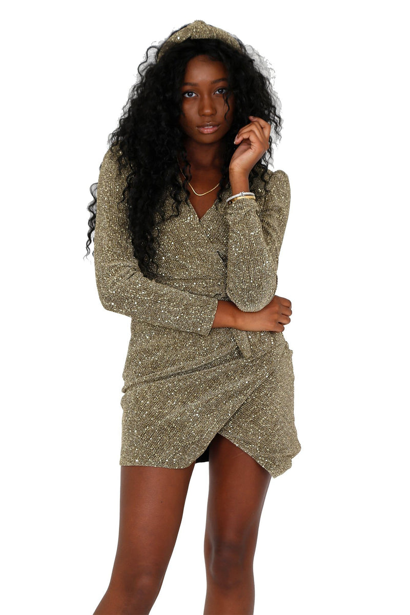 SAYLOR | Juanita Wrap Dress - Gold