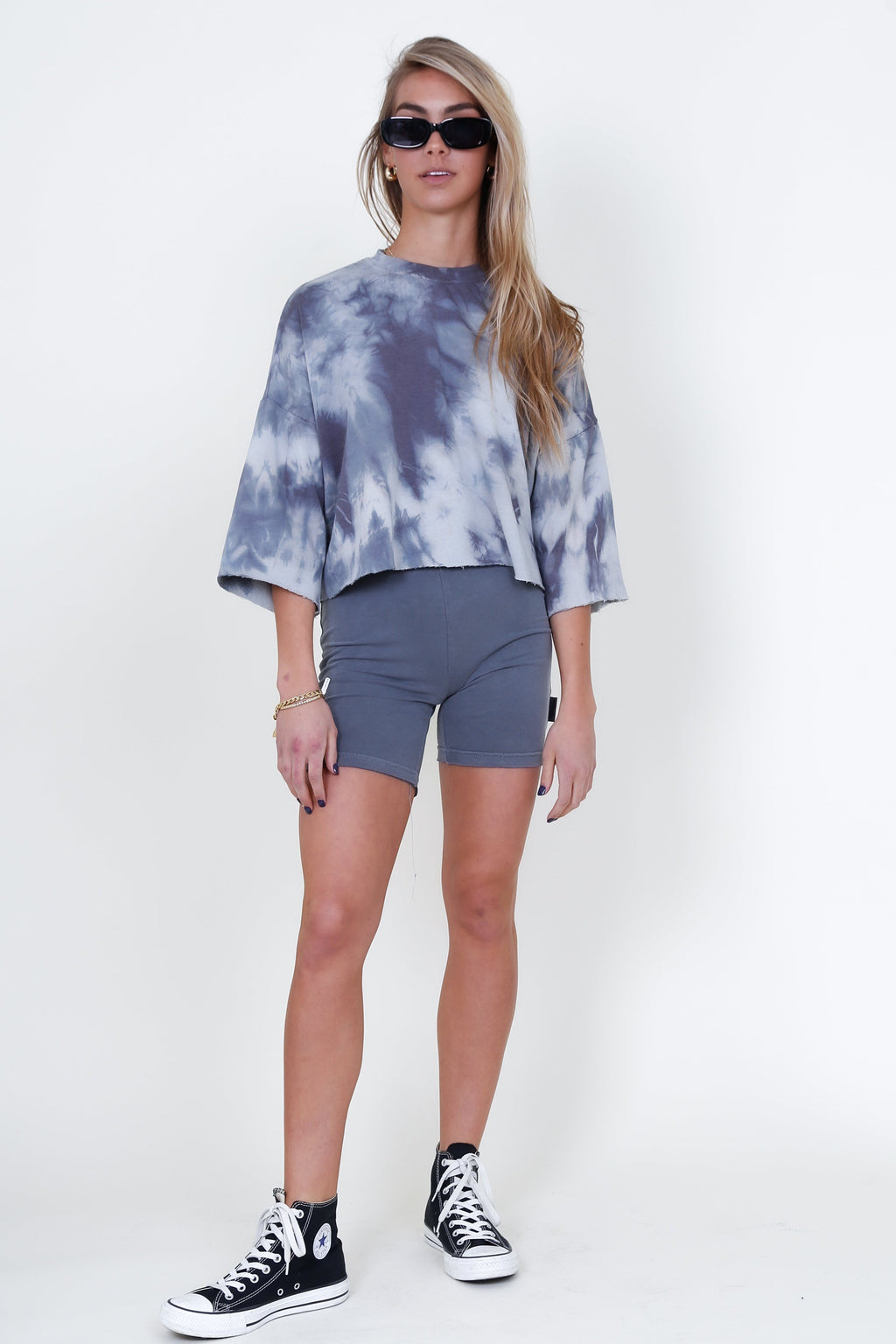 THE LAUNDRY  ROOM | Runyon Biker Shorts - Galaxy Grey