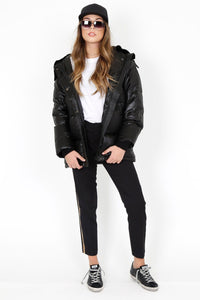 KOOPLES | Long Black Down Jacket