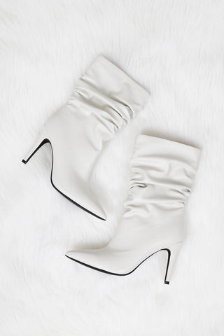 JEFFREY CAMPBELL | Guillot Slouch Boot - Ivory