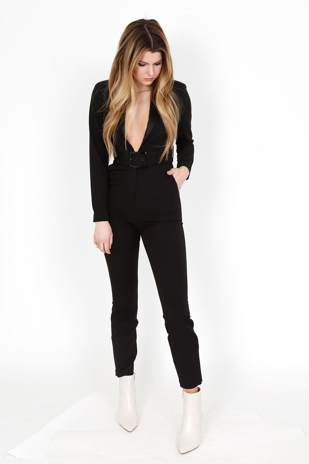 WE WORE WHAT | Blazer Jumpsuit - Black