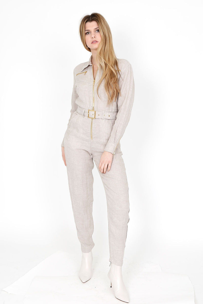 WE WORE WHAT | Utility Jumpsuit - Natural
