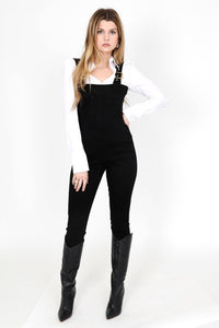 WE WORE WHAT | Corset Overalls - Black