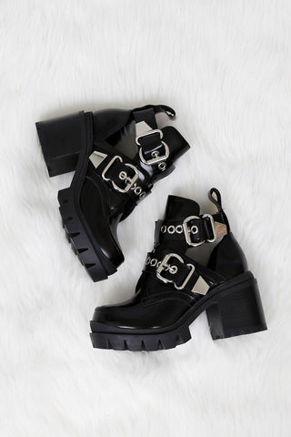 JEFFREY CAMPBELL | Craven Lo - Black Box + Silver