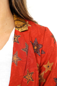SCOTCH & SODA | Star Jacquard Blazer - Red