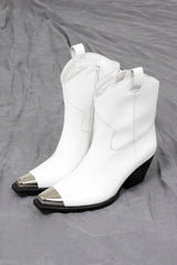 JEFFREY CAMPBELL | Defence Boot - White Box + Silver
