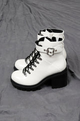 JEFFREY CAMPBELL | Czech Hi Combat Boot - White Box + Black