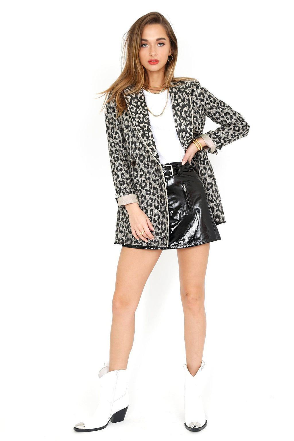 LE SUPERBE | Mrs. Setzer Jacket Dress - Leopard Jacquard