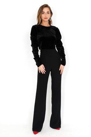 BLACK HALO | Adela 2 PC Jumpsuit - Black