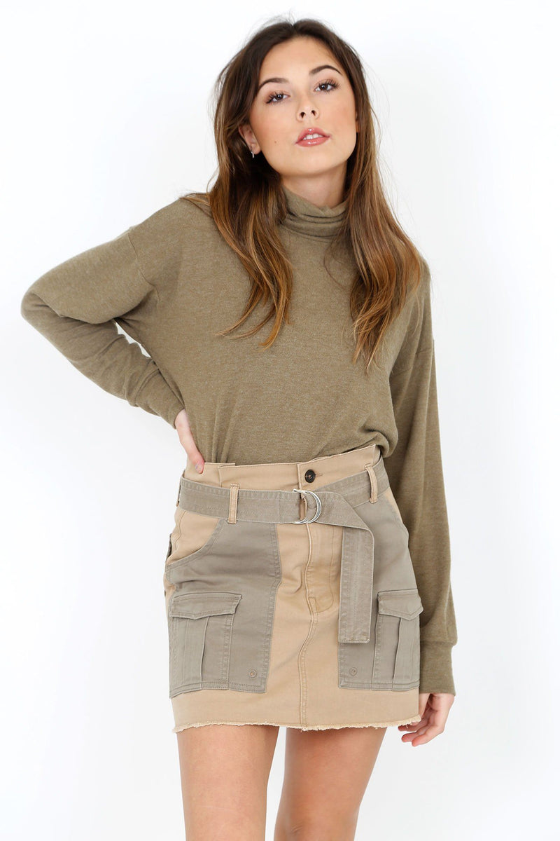 LNA | Aliza Turtleneck - Heather Olive