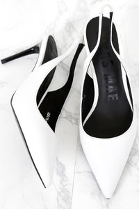ALIAS MAE | Sling Heel - Ivory Leather