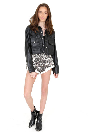 ONE TEASPOON | Bandits Denim Shorts -Animal