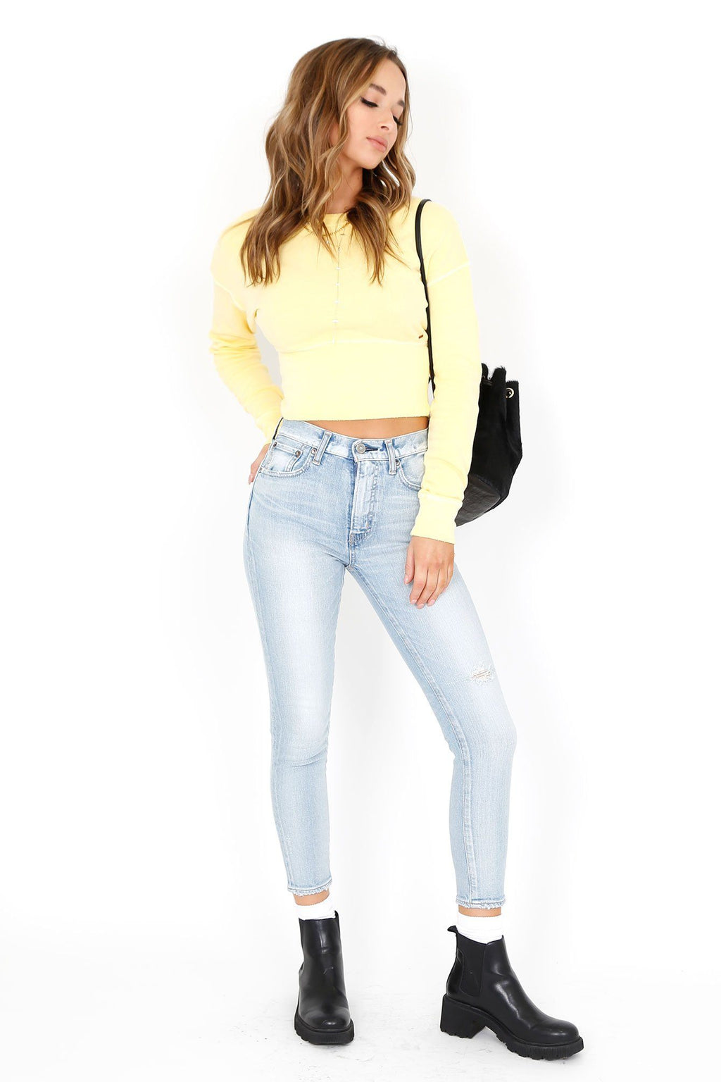 MOUSSY | Hillrose High Rise Skinny - Light Blue