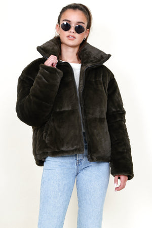 AAPARIS | Billie Faux Fur Jacket - Army
