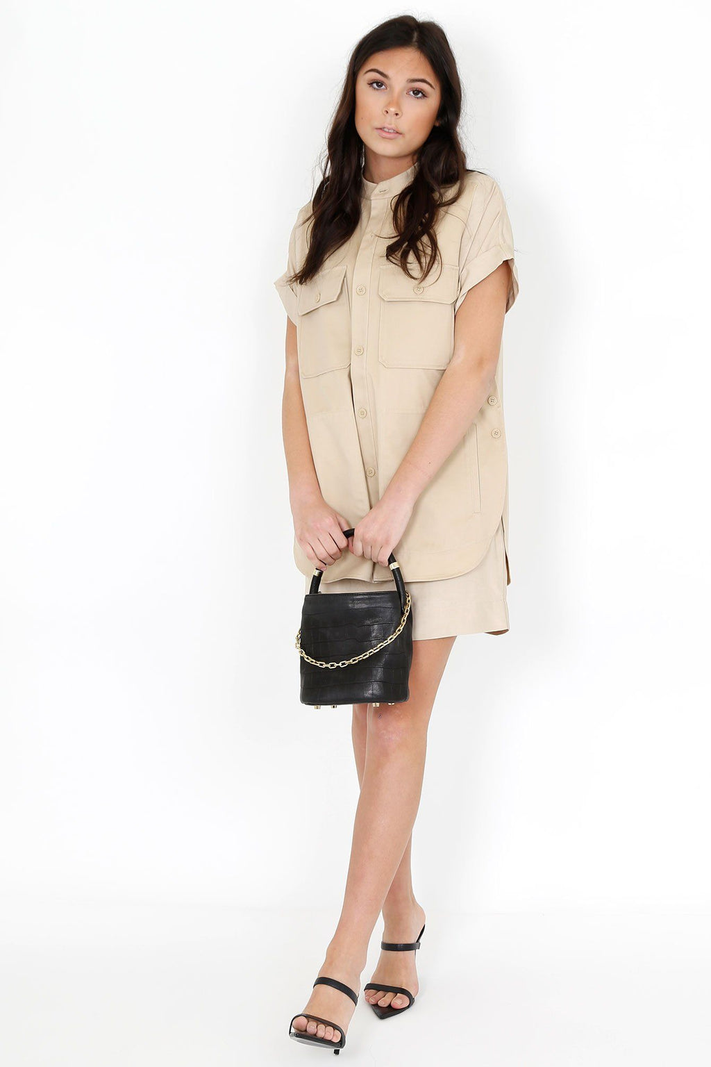 EQUIPMENT | Acaena Dress - Safari Nude
