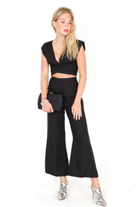 In It to Linen It Pant - Black