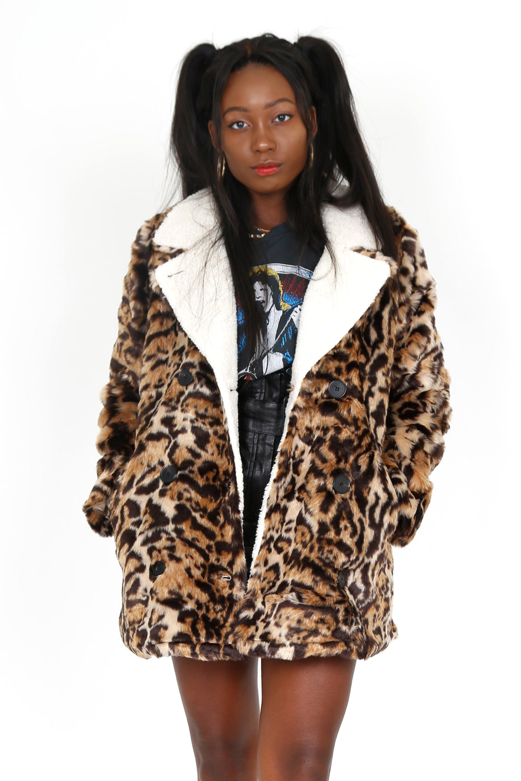PHILANTHROPY | Turn Faux Fur Jacket - Leopard