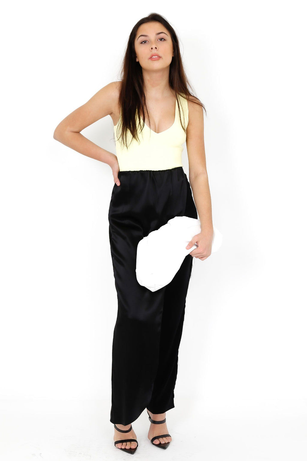 BAJA EAST | Skirt Pant - Satin Black