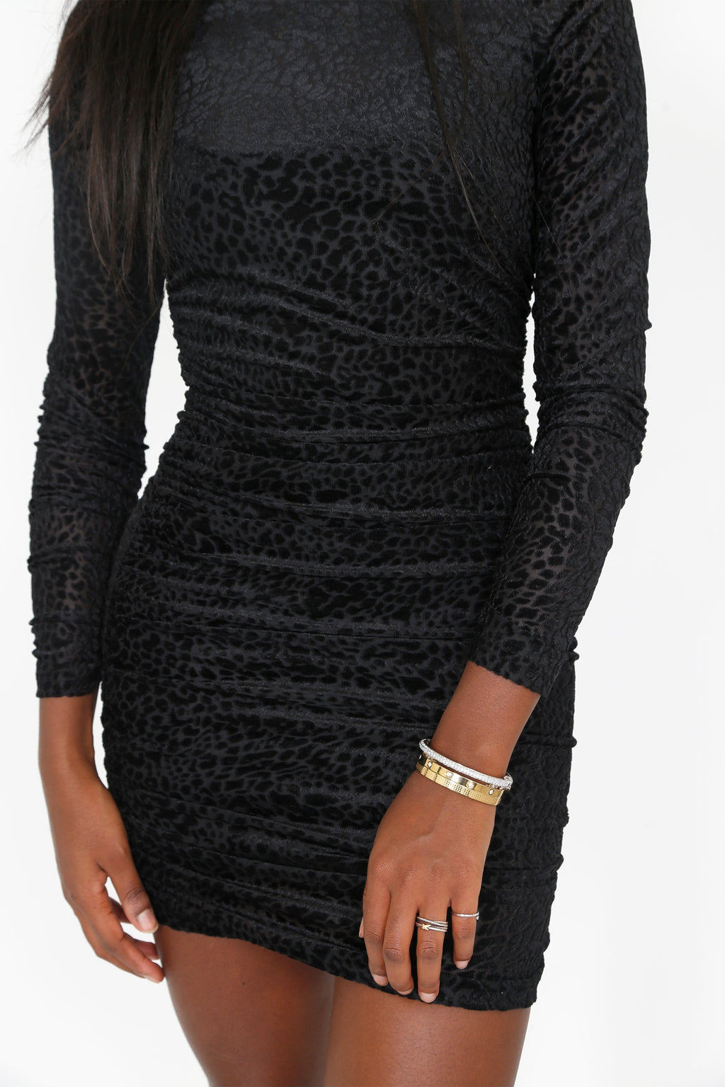 LIKELY | Wylie Dress - Leopard Burnout