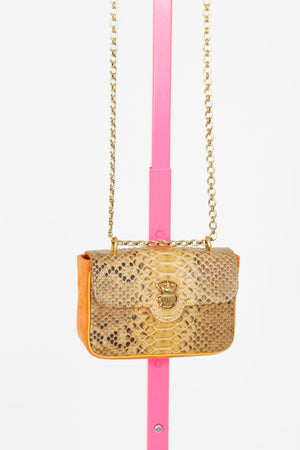 CLARIS VIROT | Honey Mini Python Ava Bag