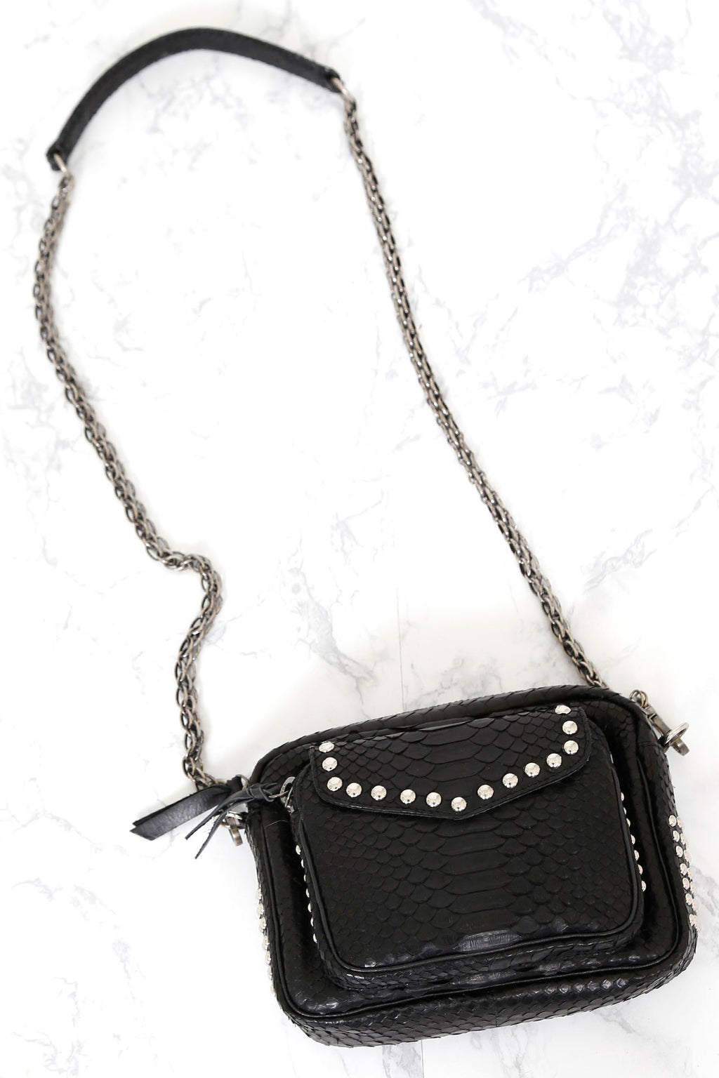 CLARIS VIROT | Black Studded Charly Bag