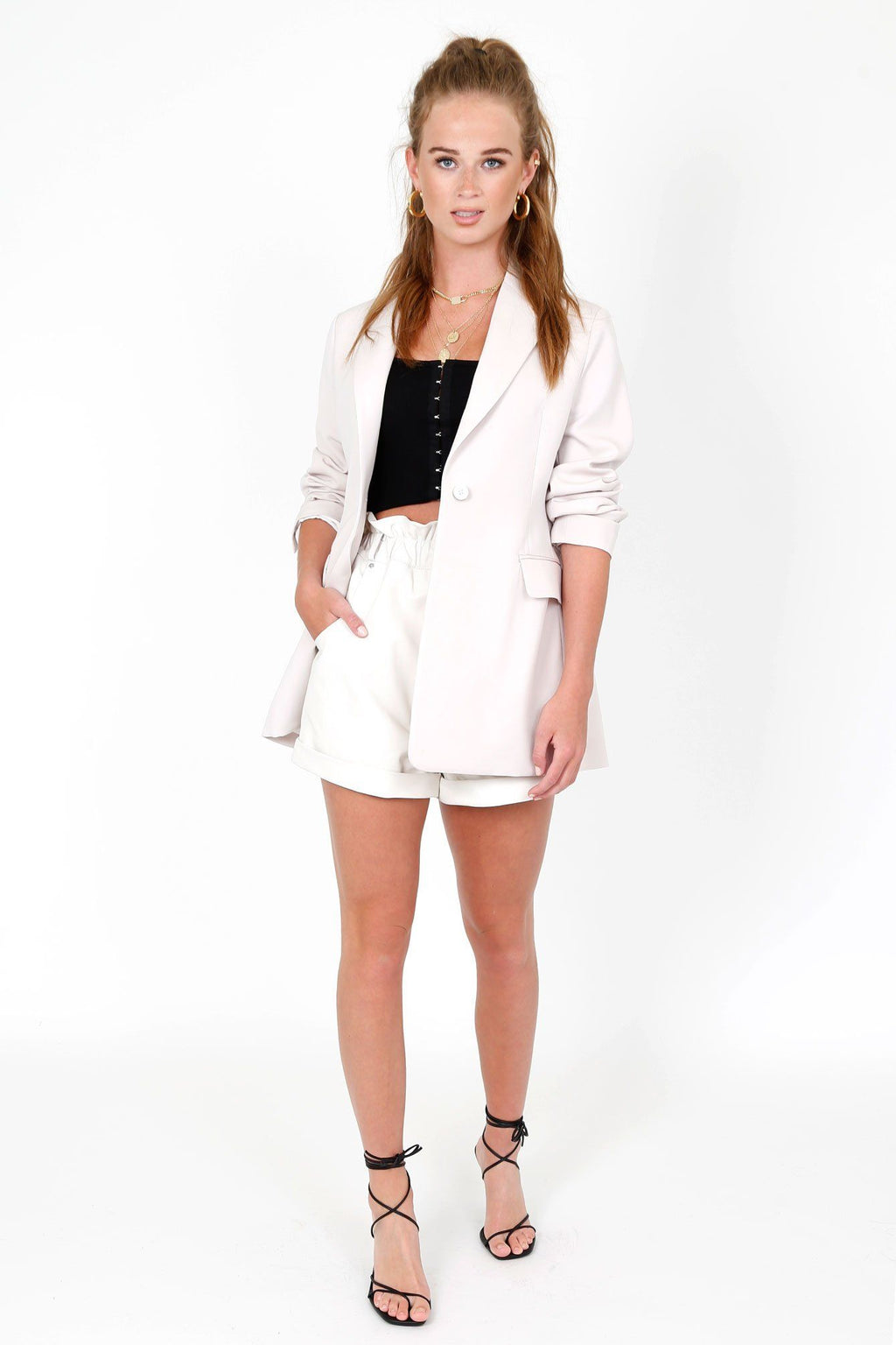 MOUSSY | MV Off White Tailored Jacket
