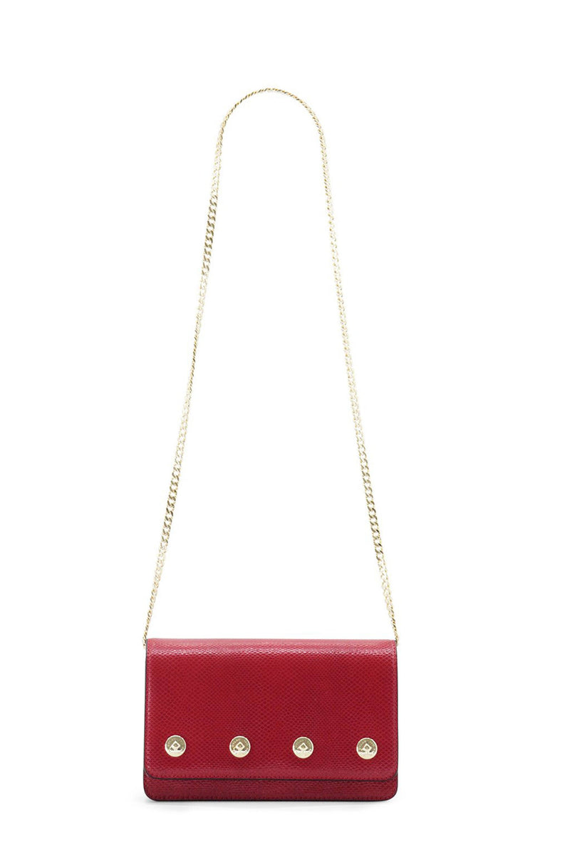 DYLAN KAIN | The Sienna Snake Bag - Red + Gold
