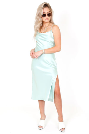 ALICE + OLIVIA | Harmony Silk Slip dress - Mint