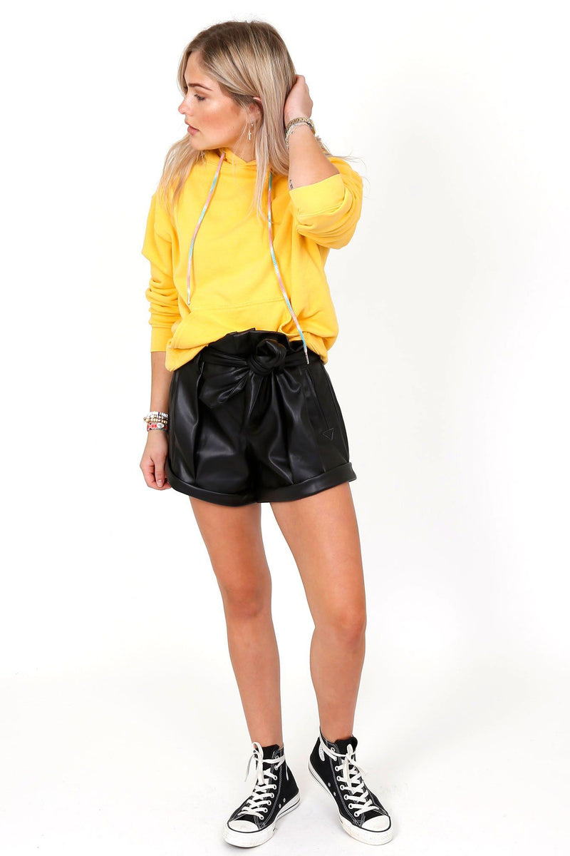 FOR LOVE & LEMONS | Afton Pleather Shorts - Noir