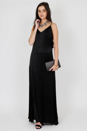 Black Tie Slip Dress