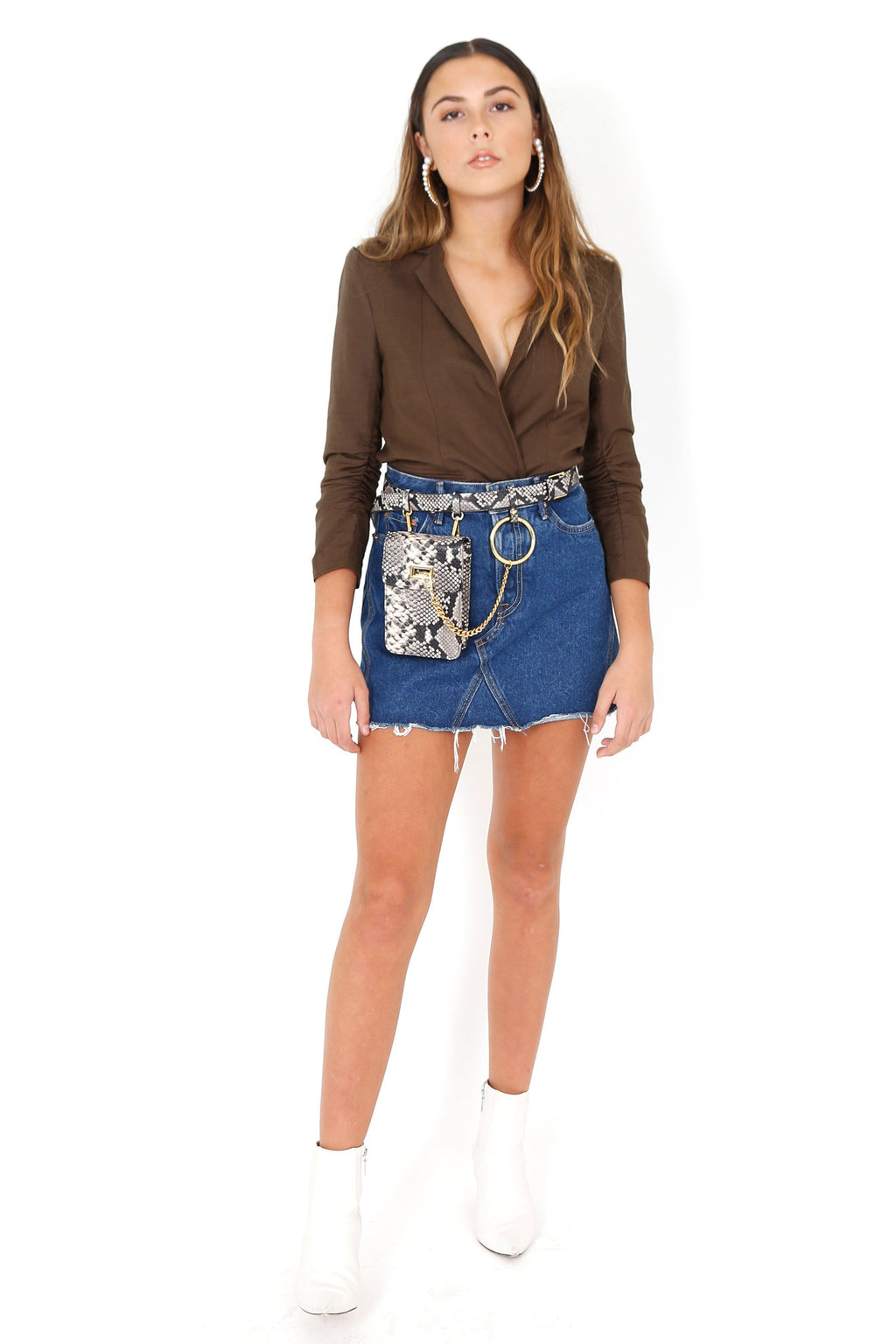 GRLFRND | Eva Denim Skirt - Tonight Its You