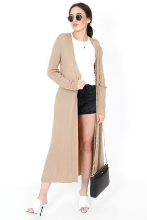 MOUSSY | MV Wool Knit Gown - Light Brown