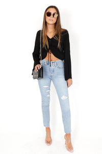 What's the Sinch Crop Top - Black