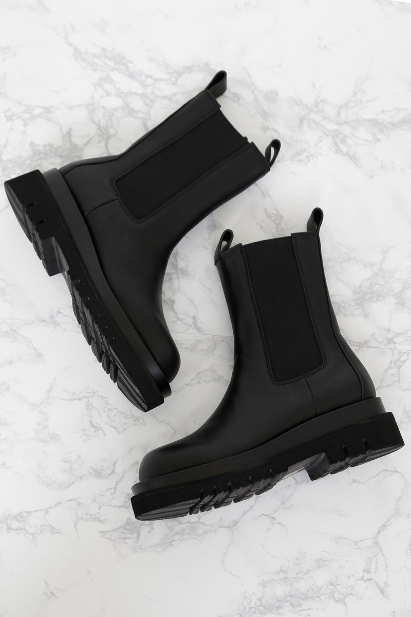 JEFFREY CAMPBELL | Tanked Black Bootie