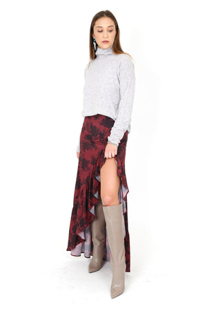 STILLWATER | The Hola Skirt - Burgundy Floral
