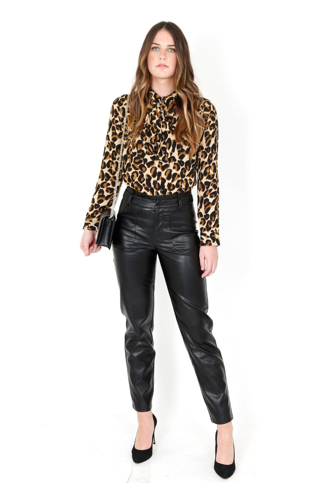 SCOTCH & SODA | Tie Front Leopard Blouse