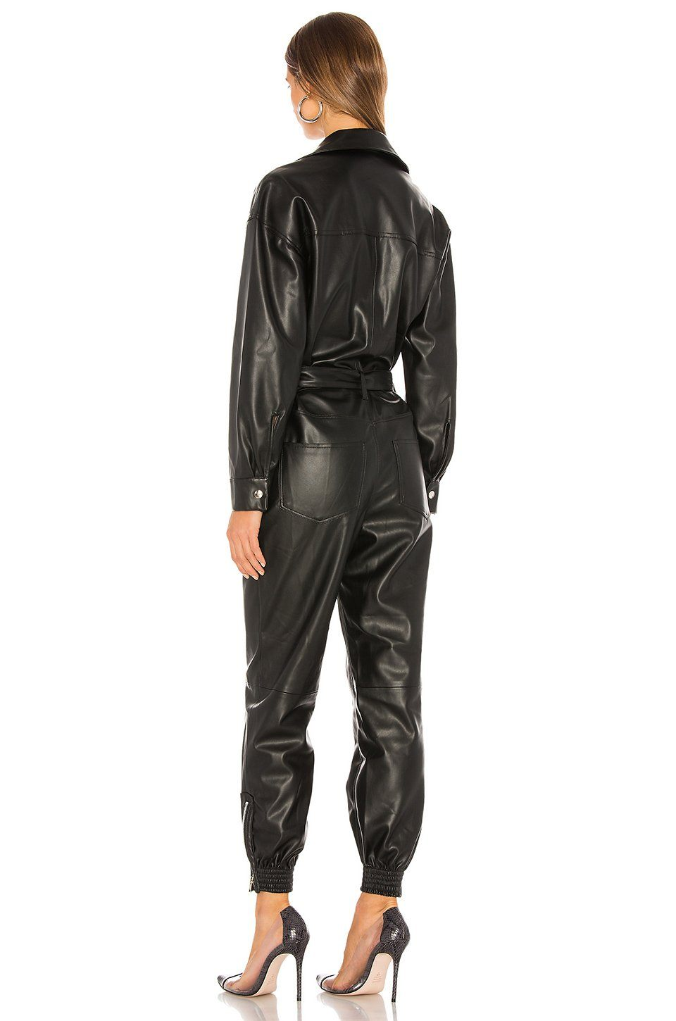 NONCHALANT | Nat Faux Leather Jumpsuit