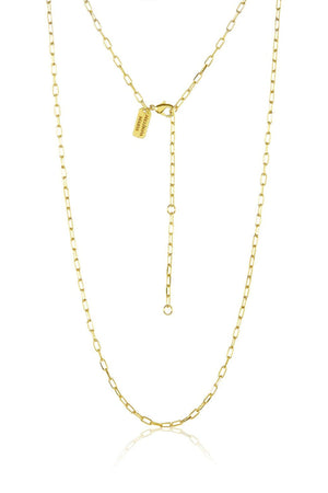 "MELINDA MARIA | 30"" Chain Gold Link Necklace"