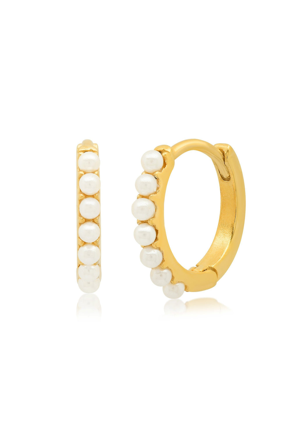TAI | Gold Huggie + Pearl Accents